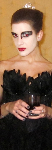 I bought this costume from Fredericks of Hollywood in 2011! The costume was perfect for the Black Swan. This was taken on Halloween day.