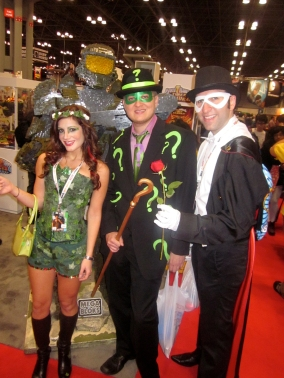 Comic Con with friends the Riddler and Tuxedo Mask aka Mike and Kyle