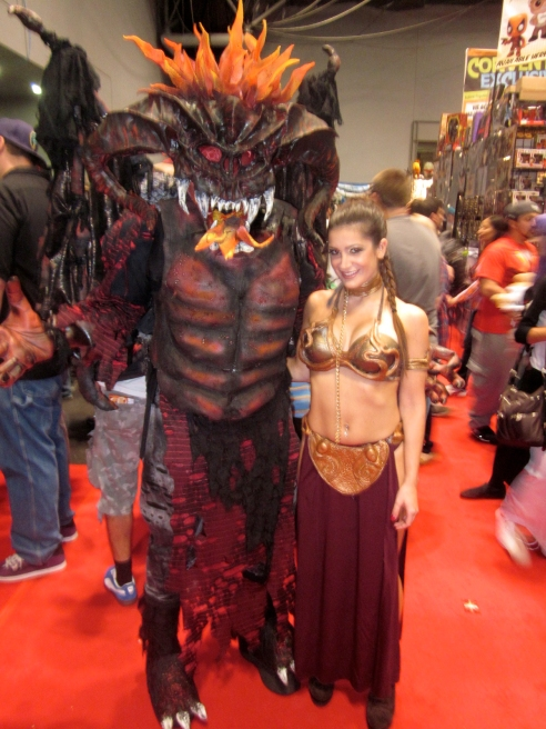 Me and some guy in a really cool costume at New York Comic Con 2013