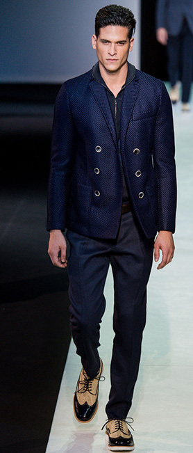 Photo: Yannis Vlamos / InDigital | GoRunway - Giorgio Armani. See this look here at style.com