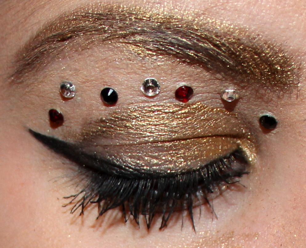 Rock star eye makeup