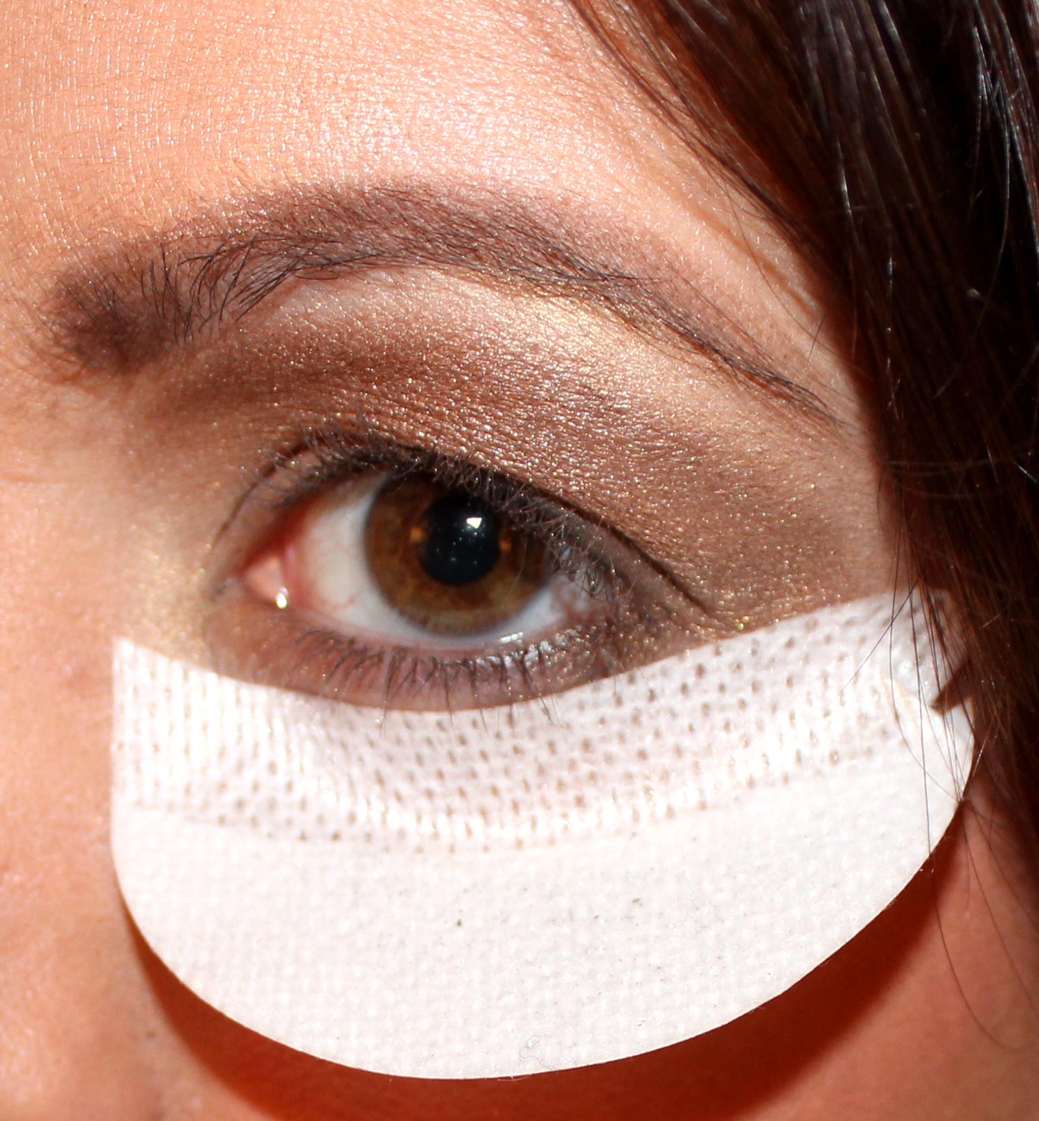Eye makeup shield